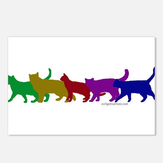 Rainbow cats Postcards (Package of 8)