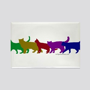 Rainbow cats Rectangle Magnet