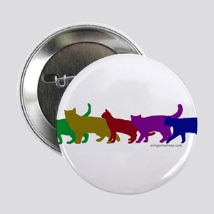 "Rainbow cats 2.25"" Button"