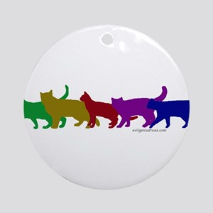 Rainbow cats Ornament (Round)
