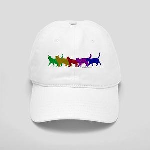 Rainbow cats Cap