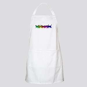 Rainbow cats BBQ Apron