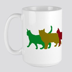 Rainbow cats Large Mug