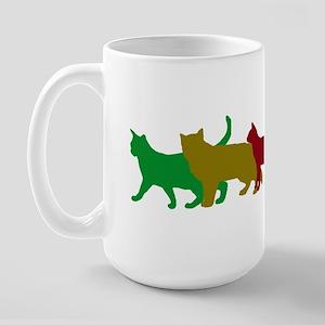 Rainbow cats Large Mug