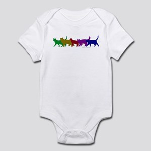 Rainbow cats Infant Bodysuit