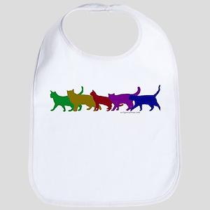 Rainbow cats Bib
