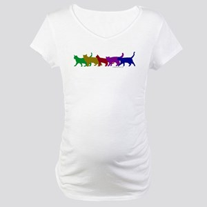 Rainbow cats Maternity T-Shirt
