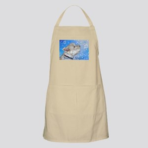 Silent Night with Westie Light Apron
