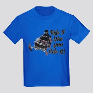 Ride It Like You Stole It Kids Dark T-Shirt
