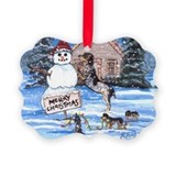 Coonhound Picture Frame Ornaments