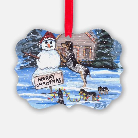 Bluetick Coonhound DFC Ornament