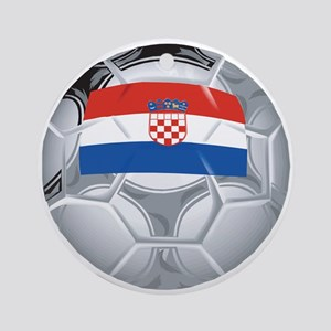 Croatia Football Ornament (Round)