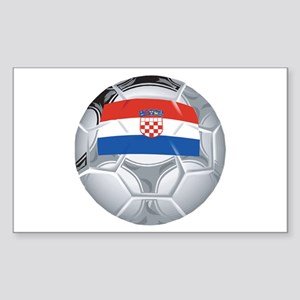 Croatia Football Rectangle Sticker