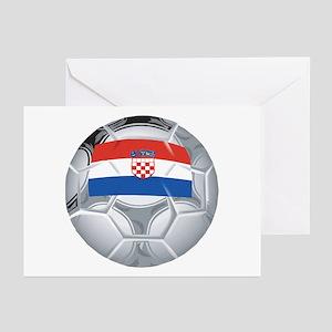Croatia Football Greeting Cards (Pk of 10)