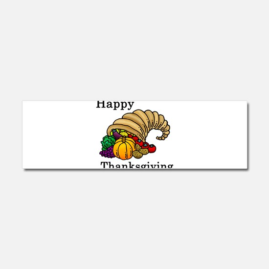 Cute Thanksgiving Car Magnet 10 x 3