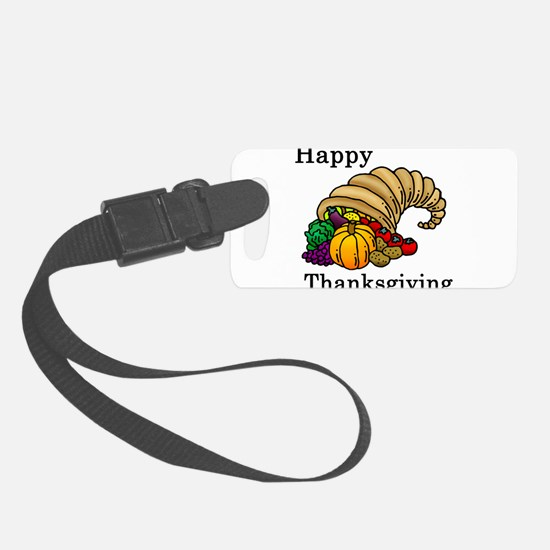 Cute Thanksgiving Luggage Tag