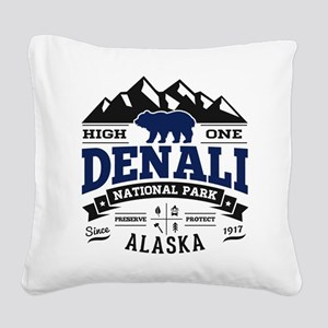 Denali Vintage Square Canvas Pillow