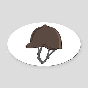 Jockey Helmet Oval Car Magnet