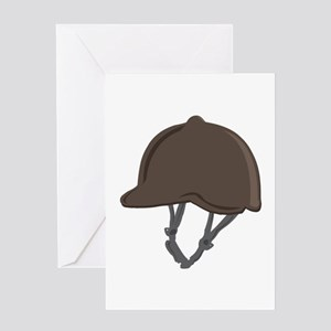 Jockey Helmet Greeting Cards