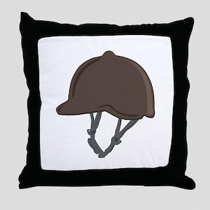 Jockey Helmet Throw Pillow