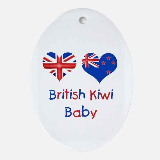 British Kiwi Baby Oval Ornament