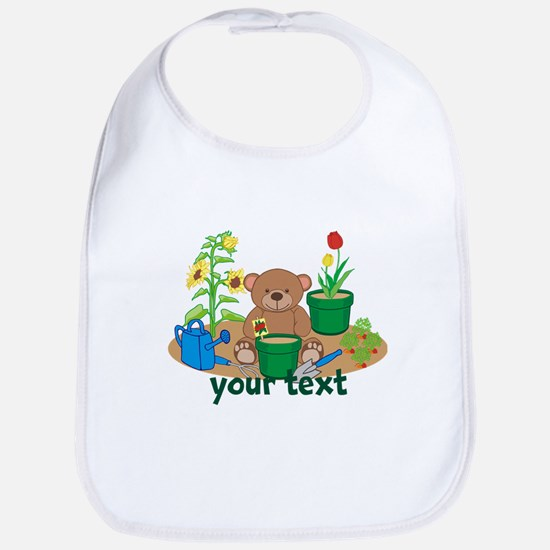 Personalized Garden Teddy Bear Bib