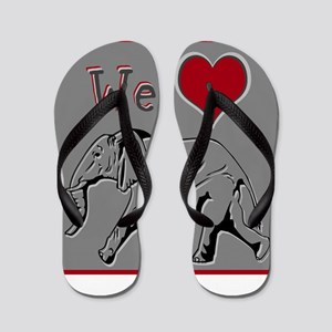 We Heart Elephants ~ Flip Flops