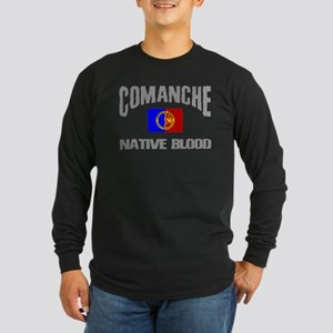 Comanche Native Blood Long Sleeve Dark T-Shirt