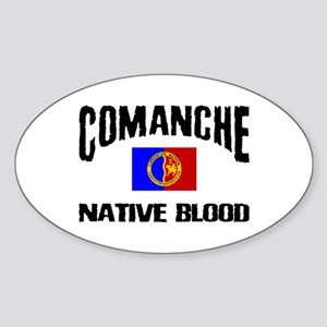 Comanche Native Blood Oval Sticker
