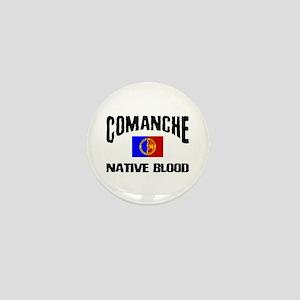 Comanche Native Blood Mini Button