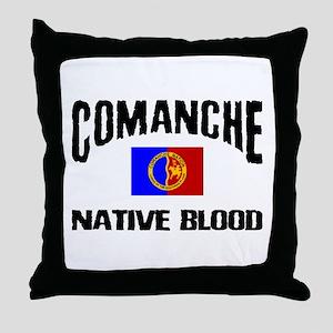 Comanche Native Blood Throw Pillow
