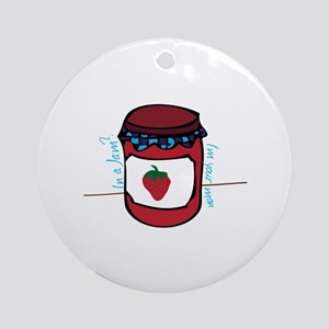 In A Jam Ornament (Round)