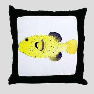 Guineafowl Puffer Yellow Throw Pillow