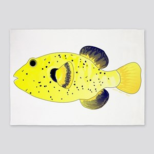 Guineafowl Puffer Yellow 5'x7'Area Rug