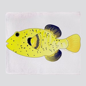 Guineafowl Puffer Yellow Throw Blanket
