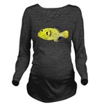 Guineafowl Puffer Yellow c Long Sleeve Maternity T