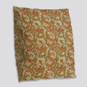 William Morris Acanthus Burlap Throw Pillow