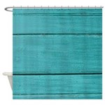 Distressed Teal Shower Curtain