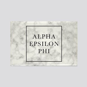 Alpha Epsilon Phi Marble Rectangle Magnet