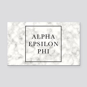 Alpha Epsilon Phi Marble Rectangle Car Magnet