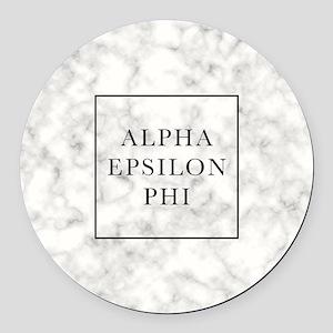 Alpha Epsilon Phi Marble Round Car Magnet
