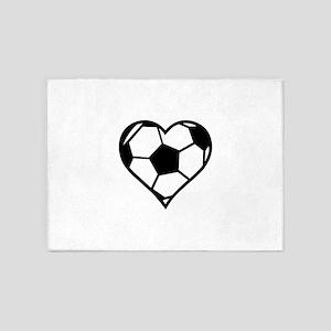 Soccer Heart 5'x7'Area Rug