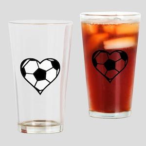 Soccer Heart Drinking Glass
