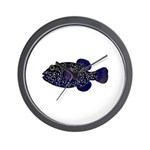 Guineafowl Puffer Black Wall Clock