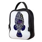 Guineafowl Puffer Black c Neoprene Lunch Bag
