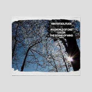 Winter Solitude Throw Blanket