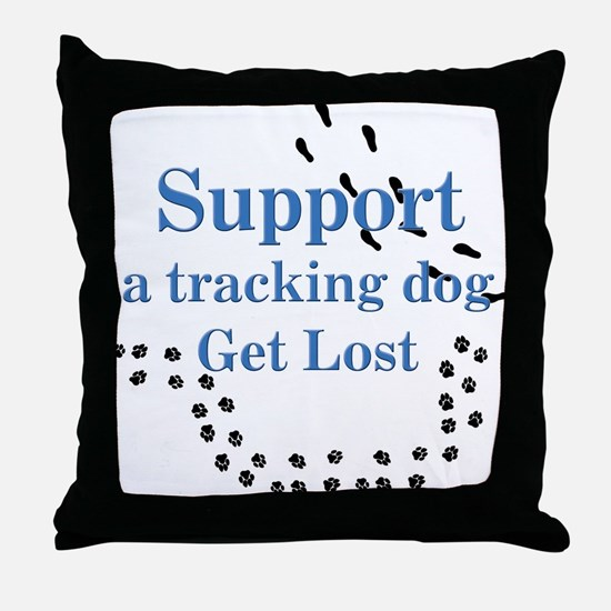 Support Tracking Throw Pillow