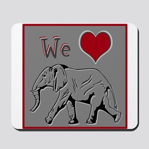 We Heart Elephants ~ Mousepad