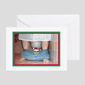 Xmas 2010 Cards (10)-Santa Cat (blank inside) Gree