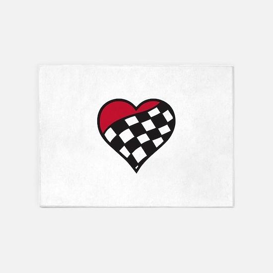 Racing Heart 5'x7'Area Rug